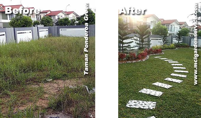 Before & After Landscape Works Johor